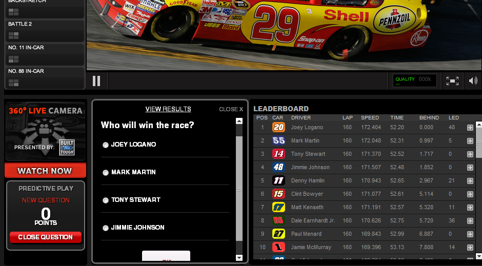NASCAR RaceBuddy Live Apps