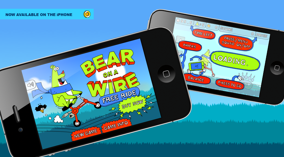 Bear on a Wire iPhone Game