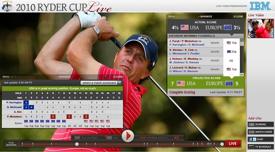 PGA Live@ Apps