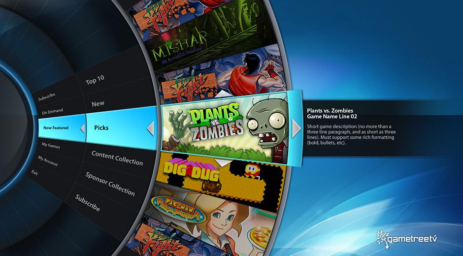 GameTreeTV Video Game Platform