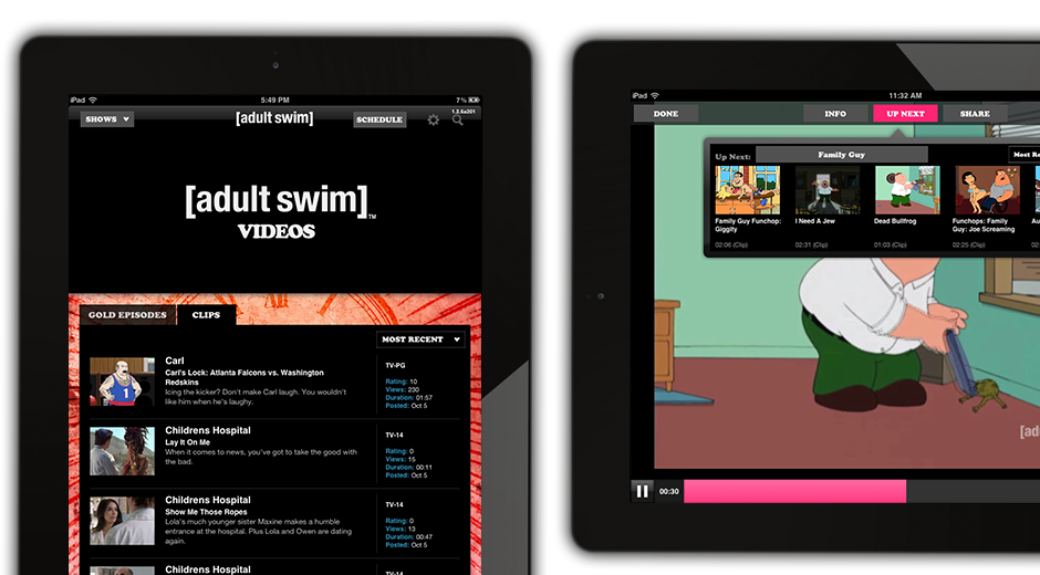 Adult Swim Mobile Apps