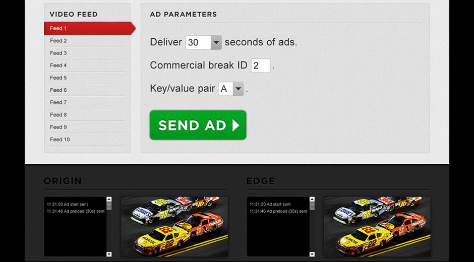 NASCAR Live Ad CMS